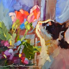 Heaven Scent, painting by artist Dreama Tolle Perry~ looks like my Mitsey. Frames On Wall, Framed Wall Art, Wall Art Prints, Fine Art Prints, Framed Prints, Canvas Prints, Buy Prints, Artist Gallery, Fine Art Gallery