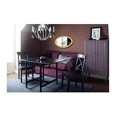 INGATORP Klaffipöytä - mustanruskea - IKEA