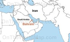 Bahrain On World Map | Bahrain on the World Map | Bahrain on the Asia Map…