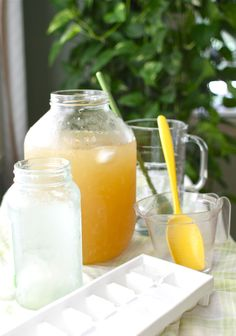 Lemon Balm-infused Lemonade. Use stevia/Swerve instead of sugar & agave for low carb.