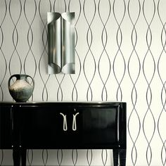 Designer wallpaper suppliers, Today Interiors create luxurious collections for the contract and domestic markets - Our Trois wallpaper collection Hallway Wallpaper, Of Wallpaper, Pattern Wallpaper, Next Living Room, Wallpapering Tips, Wallpaper Suppliers, A 17, Room Set, Fall Decor