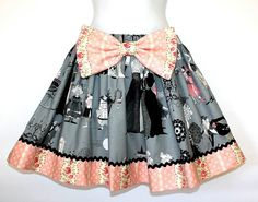 Full Ruffled Gathered Skirt The Ghastlies Victorian by OhHoneyHush