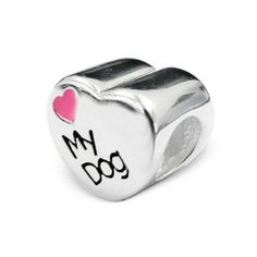 I LOVE MY DOG Charm Bead 925 Sterling Silver Fits Pandora Charm Bead Bracelet - http://www.thepuppy.org/i-love-my-dog-charm-bead-925-sterling-silver-fits-pandora-charm-bead-bracelet/