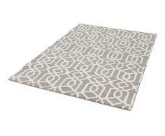 Tapis MAEVE laine et coton, gris et crème - 120*180 | Westwing Home & Living