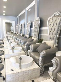 Nail Salon Design - Nails & Womens Hair Style Geek <b>Geek.</b> Luxury nail salon design - Nails & Womens Hair Style.</p>Geek <b>Geek.</b> Luxury nail salon design - Nails & Womens Hair Style. Luxury Nail Salon, Nail Salon Design, Best Nail Salon, Salon Interior Design, Luxury Nails, Salon Nails, Spa Interior, Beauty Salon Decor, Beauty Salon Design