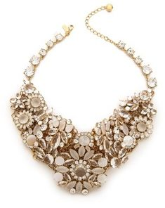Kate Spade New York Grande Bouquet Statement Necklace #bridal #accessories
