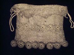 Victorian chainmail mesh purse made of German silver.