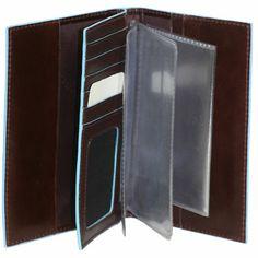 Piquadro - AS429B2/MO - Обложка для водительских прав и паспорта красно-коричневая