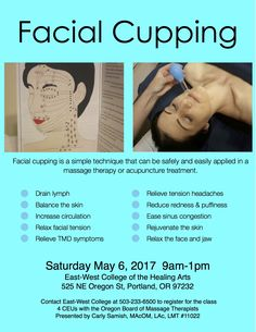 Facial Cupping Workshop in Portland May 2017 - Blue Fire Healing Arts Weight Gain Meals, Healthy Weight Gain, Healthy Recipes For Weight Loss, Relieve Tension Headache, Facial Cupping, Sinus Congestion, Bones And Muscles, Gain Muscle, Massage Therapy