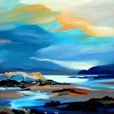 "Shoreline Colours, Skye 32""x32"""