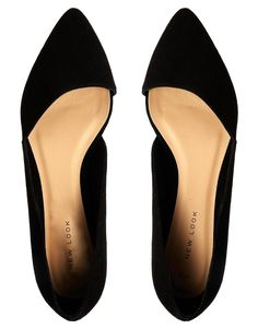 New Look | New Look Jingy Black Asymmetric Pointed Flat Shoes at ASOS