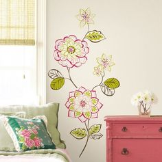Floral Wall Decal.