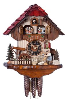 "Hones 13"" 1 Day Chalet Cuckoo Clock 6211T"