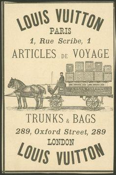Louis Vuitton poster advertisement, Paris and London, 1887