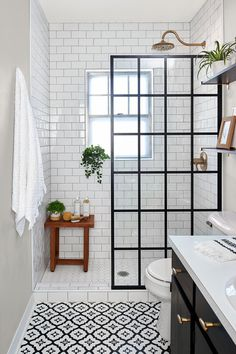 Bad Inspiration, Bathroom Inspiration, Bathroom Ideas, Bathroom Plants, Bathroom Renovations, Bathroom Organization, Shower Bathroom, Master Bathroom, Small Shower Room