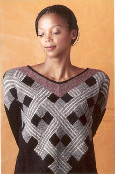 Free - Congo; pattern by Marianne Isager    Argyle looking design created with modular knitting technique