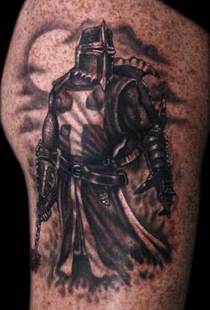 What does knight tattoo mean? We have knight tattoo ideas, designs, symbolism and we explain the meaning behind the tattoo. Tattoos Masculinas, Wolf Tattoos, Life Tattoos, Body Art Tattoos, Sleeve Tattoos, Evil Tattoos, Warrior Tattoo Sleeve, Samurai Tattoo, Angle Tattoo
