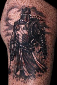 Knight tattoo 1