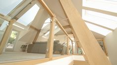 The interior of the Carpenter Oak Show House in Devon Oak Framed Buildings, Conservatory, Carpenter, Devon, This Is Us, Stairs, Film, Interior, House