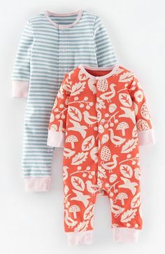 Mini Boden Romper (2-Pack) (Baby Girls) available at #Nordstrom