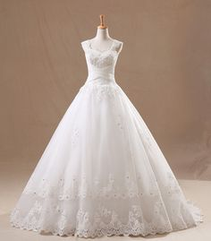 Elegant Cheap Ball Gown  Court Train Lace Wedding by FreePeoples, $289.99