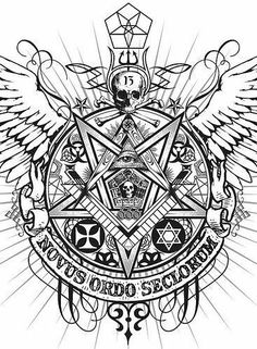 NEW WORLD ORDER.SLAVERY Symbols, so many symbols.Illuminati satanic NWO elite's symbols are everywhere! Their sick luciferian plan is to brainwash, slave and kill us - but they aren't stupid.they do it slowly. Masonic Art, Masonic Symbols, Skull Tattoos, Sleeve Tattoos, Tattoo Sketches, Tattoo Drawings, Templer, Occult Art, Desenho Tattoo
