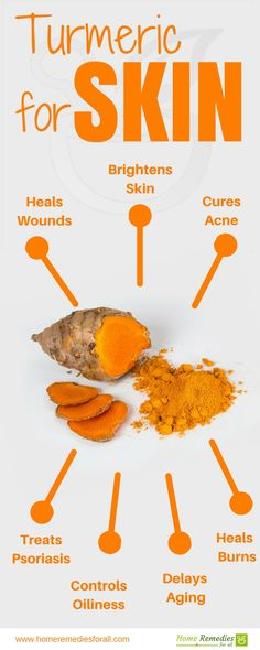 Use turmeric to rejuvenate your skin. The curcumin in turmeric provides all the benefits.