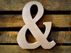Adorable wooden letters