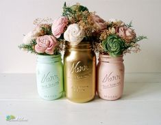 Gold and Blush Wedding Decor | Mint Blush and Gold Spring and Summer Wedding by BeachBlues