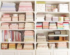 A cabinet just for me. In reality, I need a pink room, a batik room, a modern room, a novelty print room. Really, I should change the title to Dream Sewing House!