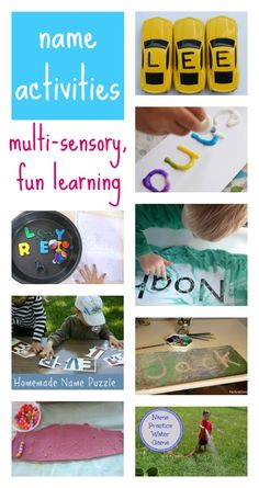 Free tips and ideas for fun, multi-sensory ways to help children learn to read and write their name.