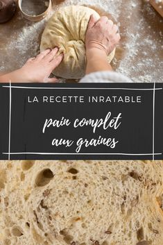 VIDEO : Notre recette inratable pour faire du pain maison Pain Thermomix, Our Daily Bread, Baking Tips, Macarons, Food And Drink, Homemade, Desserts, Kitchenaid, Pizza