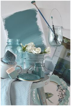 "Ana Rosa. ""Madly shabby chic and vintage."" And how bout them Katy blues!"