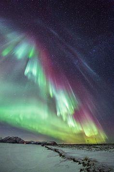 Auroras  Taken by Frank Olsen on December 8, 2013 @ Andøya island, Norway