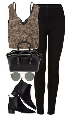 Untitled #1839 by roxy-camarena ? liked on Polyvore featuring Topshop, H&M, Zara, Givenchy, Ray-Ban and Acne Studios