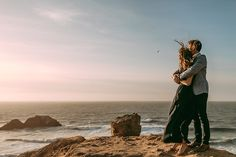 San Francisco Engagement Photography Sutro Baths and Downtown SF - making your engagement session personal is best!