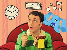 Blues Clues host Steve Burns talks about his time on the show, in w comedic fashion. My boy, this show was the reason he never napped! Blues Clues Host, Avatar, Mejores Series Tv, 90s Tv Shows, Faith In Humanity Restored, 90s Nostalgia, My Childhood Memories, Childhood Ruined, Activities For Kids