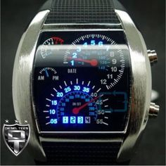 Image of Speedometer Watch Black or White Band Dream Watches, Cool Watches, Watches For Men, Unique Watches, Men's Watches, Toms Style, Diesel Watch, Best Husband, Beautiful Watches