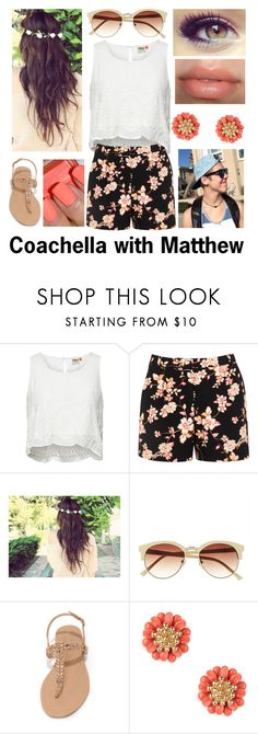 """""""Coachella with Matthew"""" by magcon-boys-outfits ❤ liked on Polyvore featuring ONLY, Miss Selfridge, Vince Camuto, Rimmel, Essie and Sole Society"""