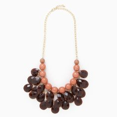 Chocolate and Candy Drops Necklace