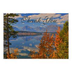 Grand Teton Autumn Fall Country Thank You Card