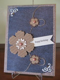 cardboard and denim makes way awesome card...would require extra postage but still cheaper than a store-bought card
