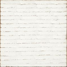 Robert Ryman, Untitled, 1965. Oil on linen, 11 ¼ x 11 1/8 inches. Musueum of Modern Art, New York.