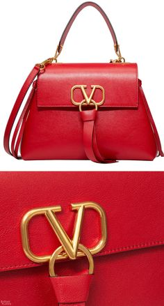 Discover the Small VRING Buffalo Leather Handbag for Woman. Find the entire collection at the Valentino Online Boutique and shop designer icons to wear. Classic Handbags, Casual Bags, My Bags, Designer Handbags, Leather Handbags, Shoulder Bag, Purses, Valentino Red