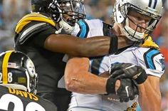 2016/09/01mfsteelerssports12 Cornerback Artie Burns takes down Carolina Panthers receiver Brenton Bersin in the second quarter Thursday at Bank of America Stadium in Charlotte, N.C.