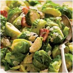CHESTNUTS & BRUSSEL SPROUT SALAD  Chestnuts and Brussels sprouts are a classic pair—the toasty, rich nuts balance the sprouts. This dish cuts down on the holiday oven gridlock because it can be done on the stovetop.  You'll get even your kids to eat Brussels sprouts with these delicious and healthy vegetable recipes. Check out at http://healthylifestyle1.com/tasty-thanksgiving-recipes-for-a-healthier-holiday-feast/