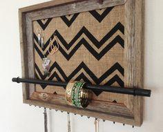 11x14 Barn Wood Jewelry Organizer horizontal by AfterTheLeavesFall, $58.00