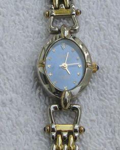 Beautiful Ladies Capezio Diamond Quartz Watch - Gold Tone - Gorgeous Band!! #Capezio #Fashion