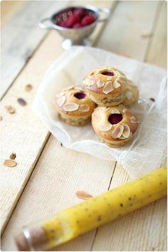 mango, raspberry cakes