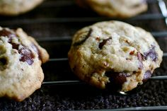 Toasted Pecan Chocolate Chip Cookies - I made these last night with toasted hickory nuts instead.  Delicious, not super sweet, good and chewy the next day.  Definitely a keeper.